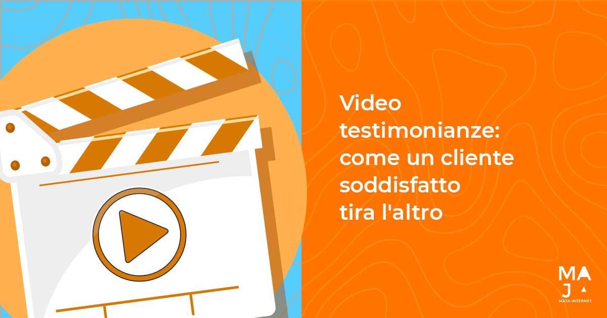 Video Testimonianze - Come Un Cliente Soddisfatto Tira L'altro Grafica Blog
